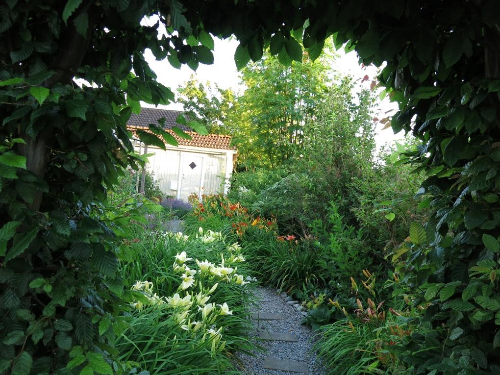 Familjen Olssons trädgård i Näsum. Privat foto.